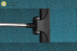 Vacuum-cleaning a carpet